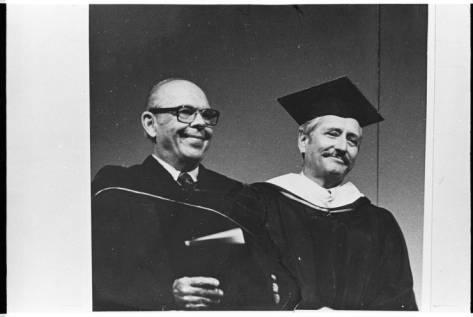 Jack Matthews & author Hollis Summers, 1983, Ohio